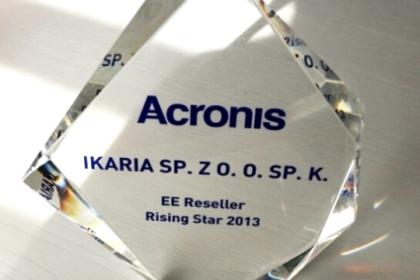 """Ikaria nagrodzona """"Rising Star 2013"""" przez Acronisa"""